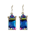 Firefly Bermuda Blue Crystal Earrings