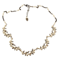Firefly Flora 5 pc Necklace Silver Tone