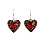 Firefly Red Heart Earring