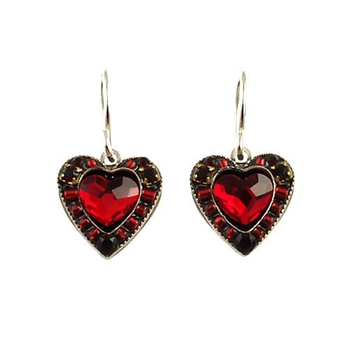 Firefly Red Heart Earring