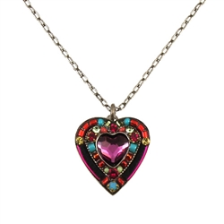 Firefly Rose Heart Necklace