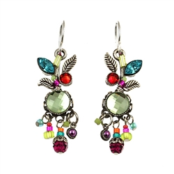 Leaf & Fruit Dangle Earring