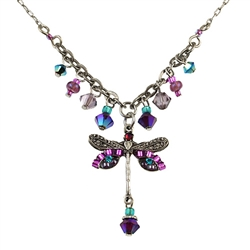 Firefly Purple Dragonfly Necklace