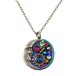 Firefly Moon/Star Necklace - Bermuda Blue