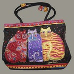 Laurel Burch Bag-Feline Friends