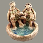 Friendly Turtle Pond Statue