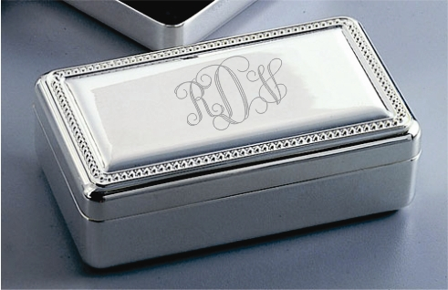 Engraved Jewelry Box Monogrammed Jewelry Box
