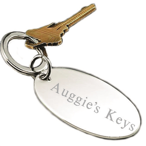 Silver Engraved Key Ring