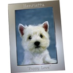 Personalized Silver Metal Photo Frame 5X7