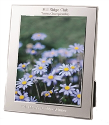 Personalized Silver Metal Photo Frame 8x10