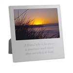 Engravable Silvertone Metal  Photo Frame 4x6