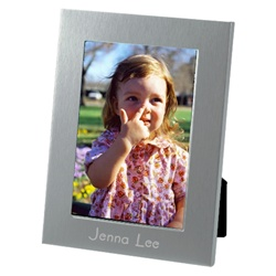 5 X 7 Engraved Brushed Aluminum Photo Frame