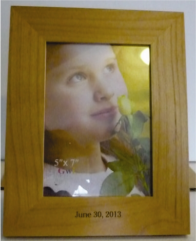 Engraved 4X6 Wood Picture Frame Personalized