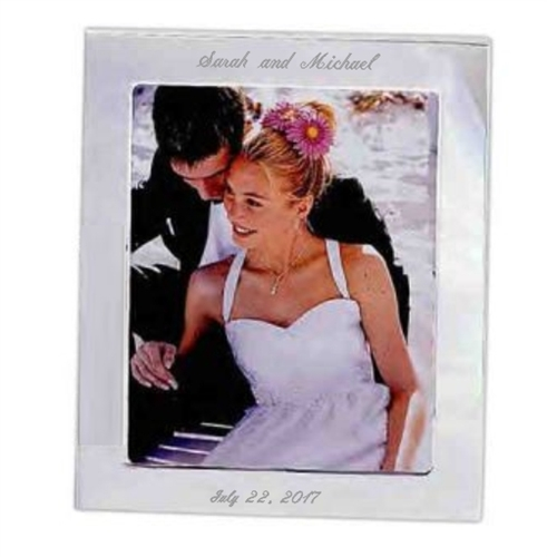Engraved Silver 8 X 10 Engravable Frame