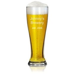 Personalized 23 Ounce Pilsner Beer Glass