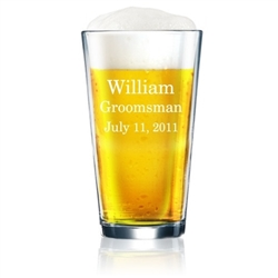 Personalized 16 Ounce Beer Glass
