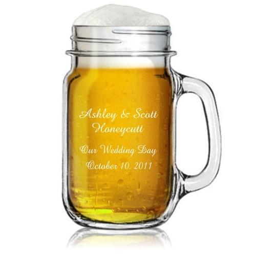 Personalized Mason Jar With Handle