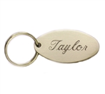 Brass Oval Engraved Key Ring