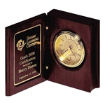 Large Bookstyle Clock  Personalized Award