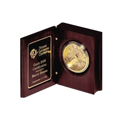 Bookstyle Clock  Personalized Award
