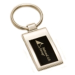 Silver & Black Engraved Key Chain