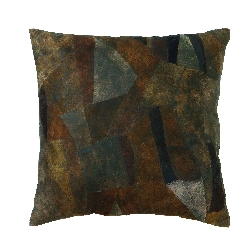 Xavier Leather Abstract Pillow