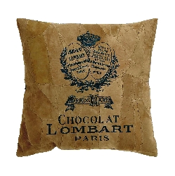 Reagan Brown Chocolate Lombart Paris Leather Pillow
