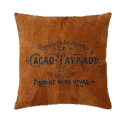 Morgan Rust Cacao Payraud Leather Pillow