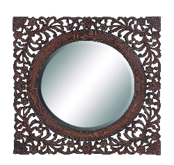 "Quinn 39"" Dark Brown Mirror"