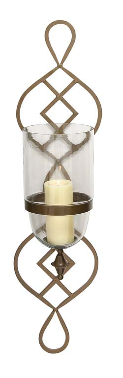 Snafu Metal & Glass Candle Sconce