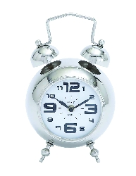 Sawyer Silver Table Clock