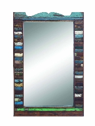 Amira Distressed Wood Mirror