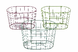 Gabe French Market Basket Wire Basket Set 3