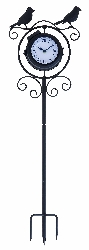 Zachariah Outdoor Birds Garden Stake Clock