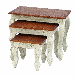 Saige Wood Nesting Table Set 3