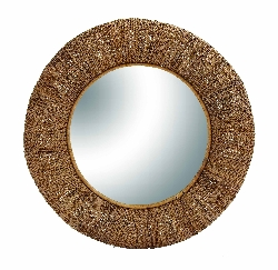 Armando Round Brown Mirror