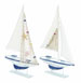 Pranav Wood Sail Boat With Carved Edges Set 2
