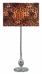 Tracey Table Lamp with Leopard Shade