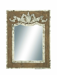 Akshara Wood Frame Mirror