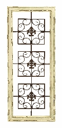 Architectural Distressed White Wall Décor 43x17