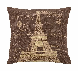 Ted Eiffel Tower Brown Plush Pillow