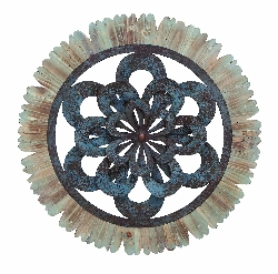 "Milah Architectural Raw 29"" Round Wall Medallion"