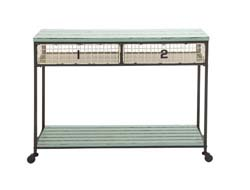 Keefe Metal & Wood Storage Console