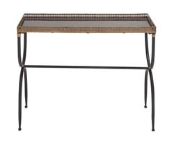 Ticha Useful Metal Marble Console Table