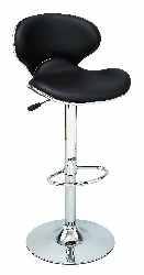 Aarya Chrome Leather Bar Stools