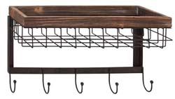Morrisette Wood & Metal Wall Basket Hook