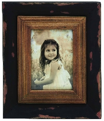 Mariam Brown Wood Photo Frame