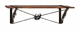 Zuriel Cowboy Styled Wood & Wall Shelf