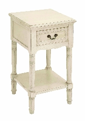 Timo Night Stand In Elegant Off White