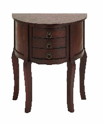 Cailin 2 Drawer Brown Wood Night Stand